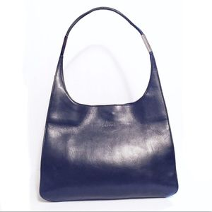 Gucci black leather hobo handbag rare